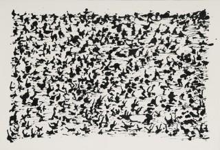 Henri Michaux, composition, encre de Chine