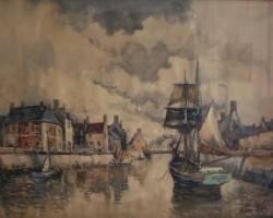 Frank Will, Isigny, aquarelle