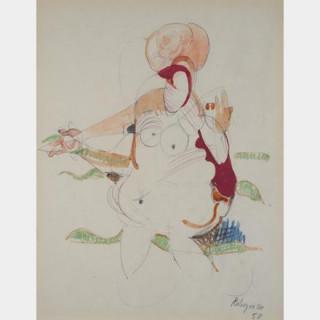 PAUL REBEYROLLE (1926-2005) - Femme nue - Aquarelle
