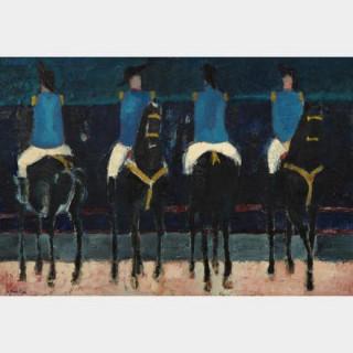 André BRASILIER (1929)- Cirque romain, 1955- Huile sur toile