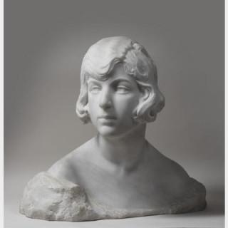 Séraphin SOUDBININE (1867-1944) - Nadia Xicota - Sculpture en marbre