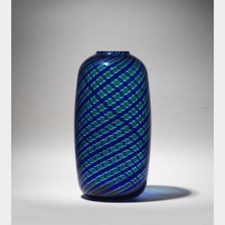Paolo VENINI - Vase coloré bleu