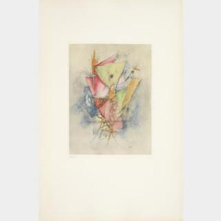 Ensemble de 4 estampes d'Otto Wols