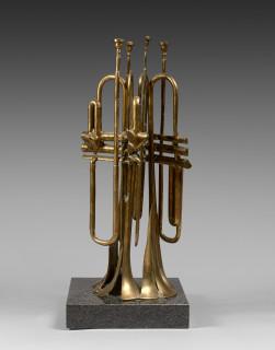 Arman, trompettes découpées, sculpture en bronze