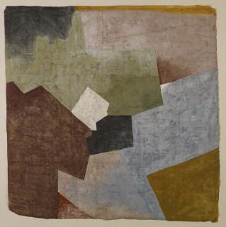 Adam Henein, automnal paysage, gouache