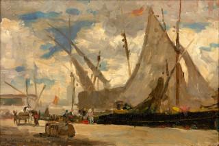 Albert Lebourg, vue d'Alger, huile sur toile