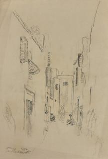 Alexandre Roubtzoff,Tunis, dessin