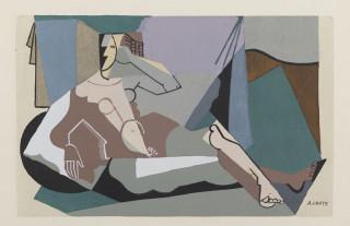 André Lhote, personnage cubisant, pochoir