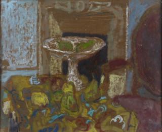 Antoni Clavé, nature morte, pastel