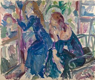 Antonio Cabral, duas mulieres, tableau
