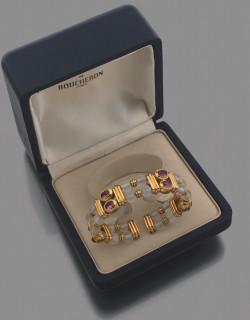 Boucheron, bracelet or, tourmaline