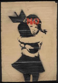 Banksy, Bomb Hugger No 2003, bombe aérosol