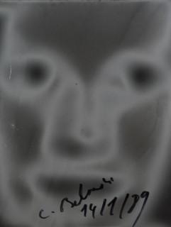Christian Boltanski, visage solarisé, photographie