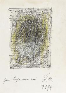 César, autoportrait sur carte de voeux