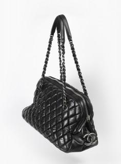 Chanel, sac Bowling noir, vintage