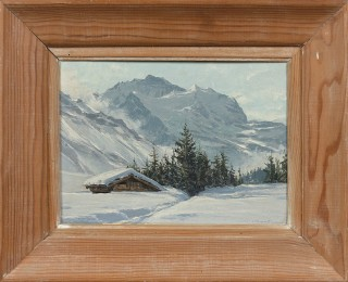 Charles Contencin, neige à Wengen, tableau