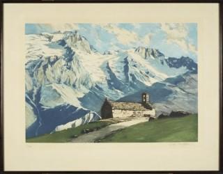 Charles Contencin, paysage alpin, aquatinte