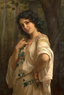 Charles Landelle, jeune femme, tableau