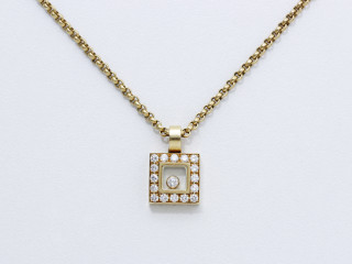 Chopard, happy diamonds, pendentif carré