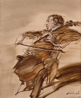 Claude Weisbuch, violoncelliste, tableau