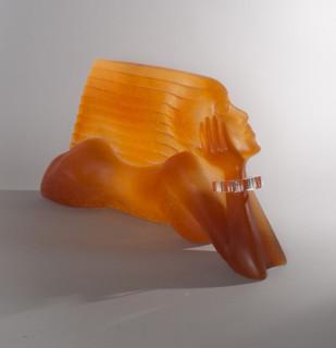 Daum Dan Daley, le vent, sculpture en pâte de verre