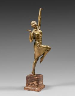 Demeter Chiparus, femme dansant, sculpture