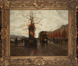 Edouard Cortes,  Le Quai du Louvre vers le pont des Arts, tableau