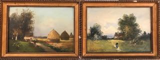 Edwin Dalton, paysages animés, vente aux enchères, tableaux