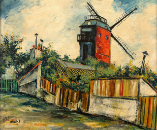 Elisée Maclet, Le moulin de la Galette, tableau
