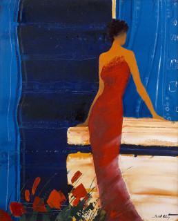 Emile Bellet, instant bleu, tableau, vente aux enchères