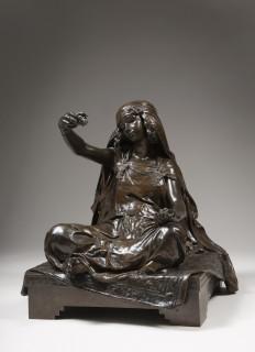 Ernest Barrias, jeune fille de Bou Saada, bronze