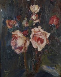 Eugène Leroy, bouquet, huile, vente aux enchères