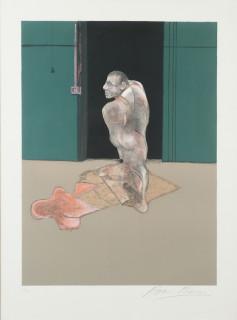Francis Bacon, étude, lithographie