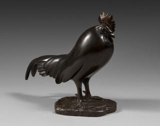 François Pompon, le coq dormant, bronze