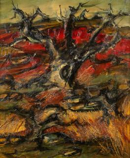 Franz Priking, tableau, Arbres rouges, vente aux enchères