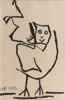 Gaston Chaissac, coq, dessin, vente aux enchères