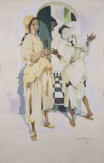 Gaston Mantel, jeunes marocaines, tableau