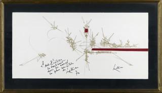 Georges Mathieu, Composition, technique mixte, cote, prix