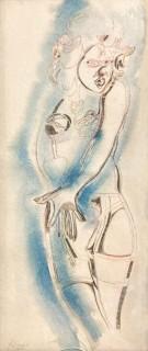 Gérard Guyomard, femme aux porte jarretelle, dessin