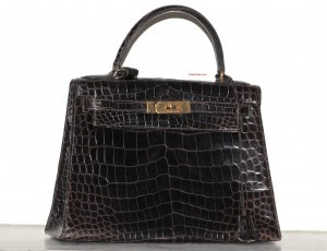 Hermes, sac Kelly crocodile, vintage