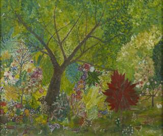 Henri Maik, Paysage verdoyant, tableau