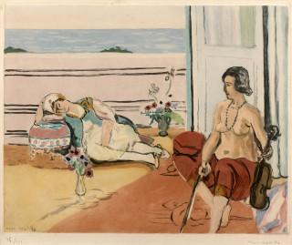 Henri Matisse, Odalisque, estampe