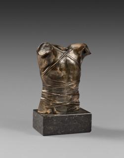 Igor Mitoraj, cuirasse, bronze