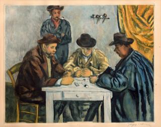 Jacques Villon, les joueurs de cartes d'après Cézanne