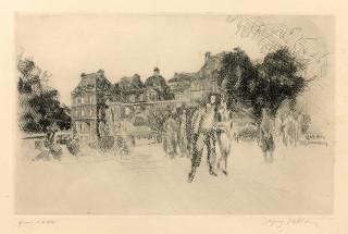Jacques Villon, mon vieux Luxembourg, gravure