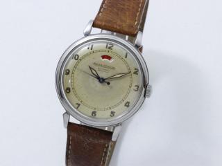 Jaeger Lecoultre, montre bracelet acier réserve de marche