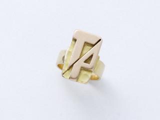 Jean Despres, bague or et diamant, vente aux enchères