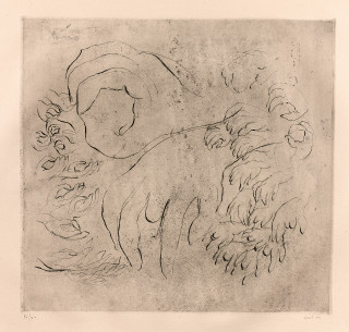Jean Fautrier, étude de mains, estampe