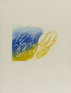 Jean Fautrier, l'orage, aquatinte