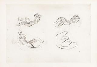 Jean Fautrier, naissance de la femme, gravure